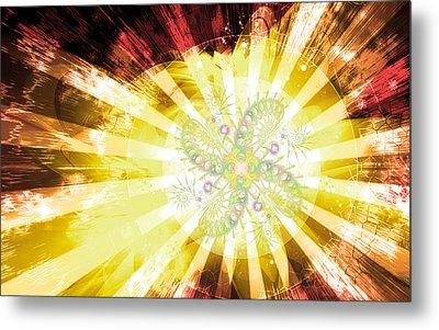 Cosmic Solar Flower Fern Flare 2 Metal Print by Shawn Dall