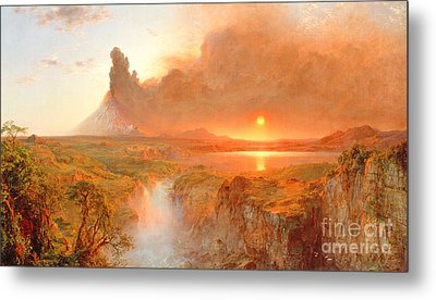 Cotopaxi Metal Print by Frederic Edwin Church