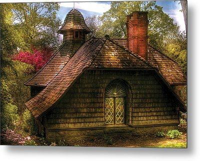 Cottage - Sweet Old Lady House Metal Print by Mike Savad