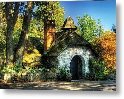 Cottage - The Little Cottage Metal Print by Mike Savad