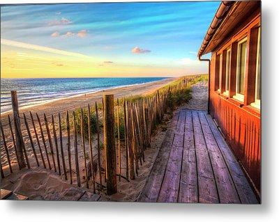 Cottage By The Sea Metal Print by Debra and Dave Vanderlaan
