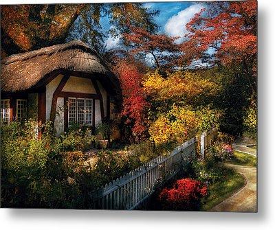 Cottage - Grannies Cottage Metal Print by Mike Savad