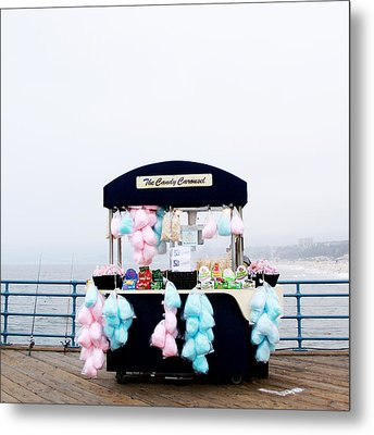 Cotton Candy Carousel- By Linda Woods Metal Print by Linda Woods