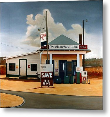 Country Crossroads Metal Print by Doug Strickland