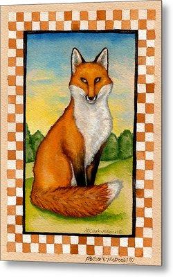 Country Fox Metal Print by Beth Clark-McDonal
