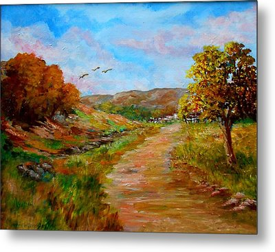 Country Road 2 Metal Print by Constantinos Charalampopoulos
