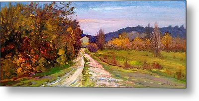 Country Road - Toscana Metal Print by Biagio Chiesi