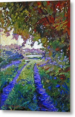 Country Roads Provence Metal Print by David Lloyd Glover