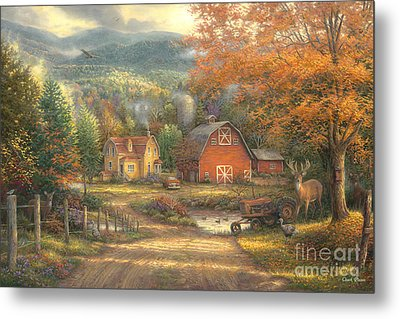 Country Roads Take Me Home Metal Print by Chuck Pinson