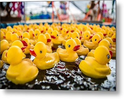 County Fair Rubber Duckies Metal Print by Todd Klassy