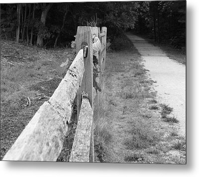 County Fence  Metal Print by D R TeesT