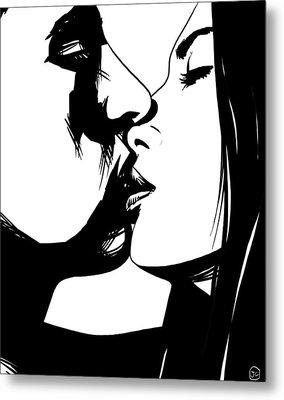 Couple Kissing Metal Print by Giuseppe Cristiano