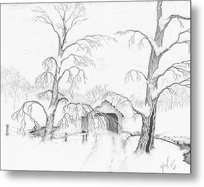 Covered Bridge Metal Print by Dan Theisen
