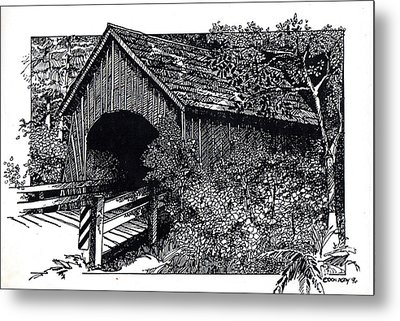 Covered Bridge Metal Print by Donald Aday