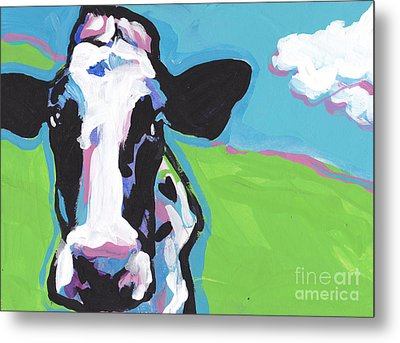Cow Cow Metal Print by Lea S