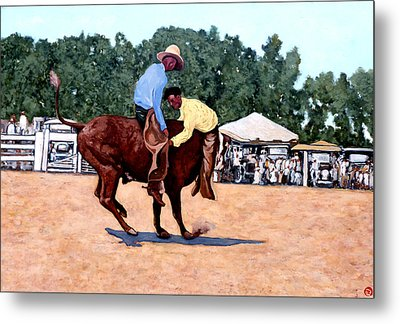 Cowboy Conundrum Metal Print by Tom Roderick