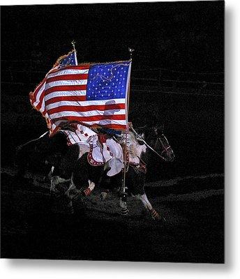 Cowboy Patriots Metal Print by Ron White