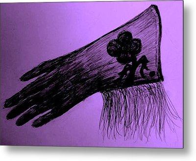 Cowgirl Glove Plum Classy Metal Print by Susan Gahr