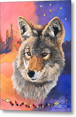Coyote The Trickster Metal Print by J W Baker