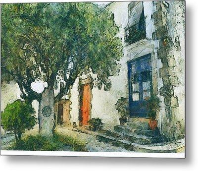 Cozy Garden, Sant Pol De Mar, Spain Metal Print by Evgeny Leonov