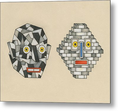 Crag Man And Brick Head Metal Print by Matt Leines