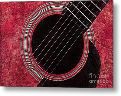 Cranberry Guitar Metal Print by Andee Design
