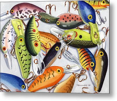 Crankbaits Metal Print by Mark Jennings