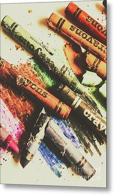 Crash Test Crayons Metal Print by Jorgo Photography - Wall Art Gallery