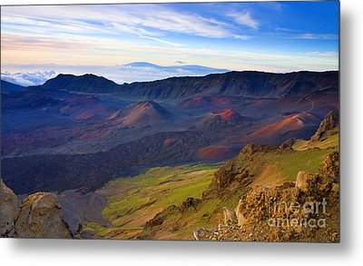 Craters Of Paradise Metal Print by Mike  Dawson