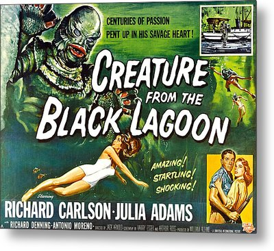 Creature From The Black Lagoon, Upper Metal Print by Everett
