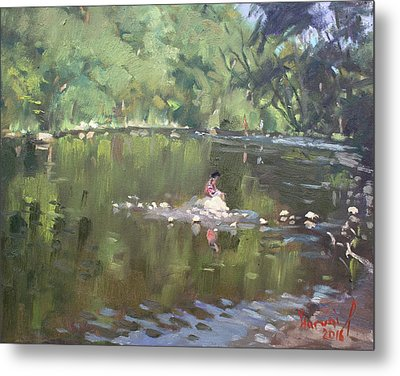 Credit River By Norval On Metal Print by Ylli Haruni
