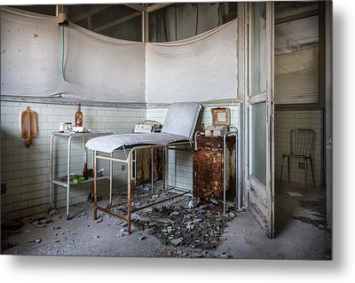 Creepy Exammination Room - Abandoned School Building Metal Print by Dirk Ercken