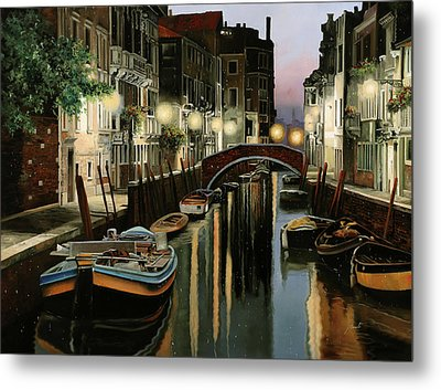 Crepuscolo In Laguna Metal Print by Guido Borelli