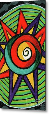 Creve Coeur Streetlight Banners Whimsical Motion 12 Metal Print by Genevieve Esson