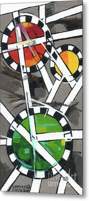 Creve Coeur Streetlight Banners Whimsical Motion 14 Metal Print by Genevieve Esson