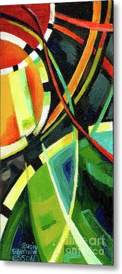 Creve Coeur Streetlight Banners Whimsical Motion 15 Metal Print by Genevieve Esson