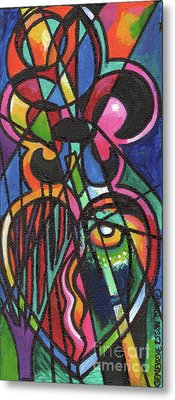 Creve Coeur Streetlight Banners Whimsical Motion 19 Metal Print by Genevieve Esson