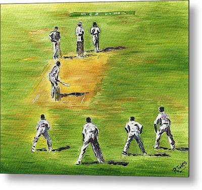 Cricket Duel Metal Print by Richard Jules