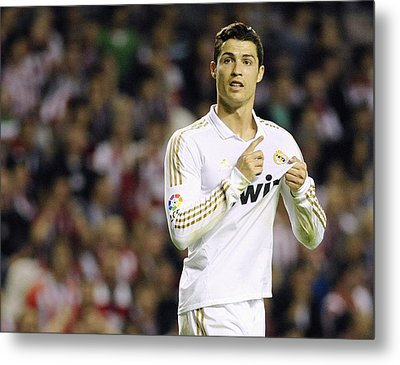 Cristiano Ronaldo 4 Metal Print by Rafa Rivas