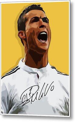 Cristiano Ronaldo Cr7 Metal Print by Semih Yurdabak