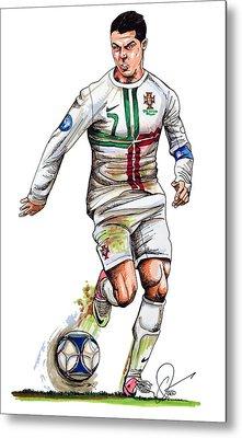 Cristiano Ronaldo Metal Print by Dave Olsen