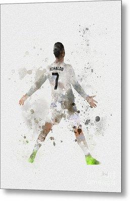 Cristiano Ronaldo Metal Print by Rebecca Jenkins