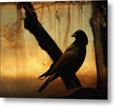 Crossed With A Gothic Sunset Metal Print by Gothicrow Images