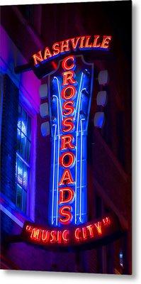 Music City Crossroads Metal Print by Stephen Stookey