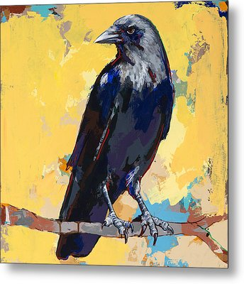 Crow #4 Metal Print by David Palmer