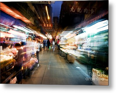 Crowds Moving Through Jordan Metal Print by Ray Laskowitz - Printscapes