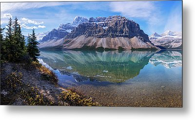 Crowfoot Reflection Metal Print by Chad Dutson