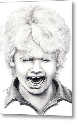 Cry Baby Metal Print by Murphy Elliott