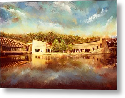 Crystal Bridges Museum Of American Art Metal Print by Lourry Legarde