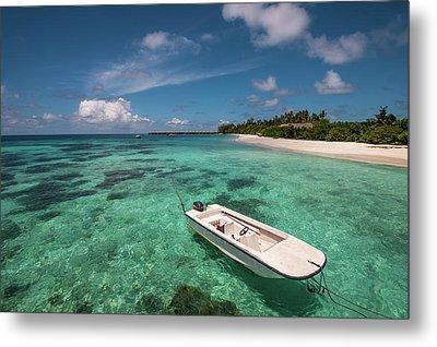 Crystal Clarity. Maldives Metal Print by Jenny Rainbow